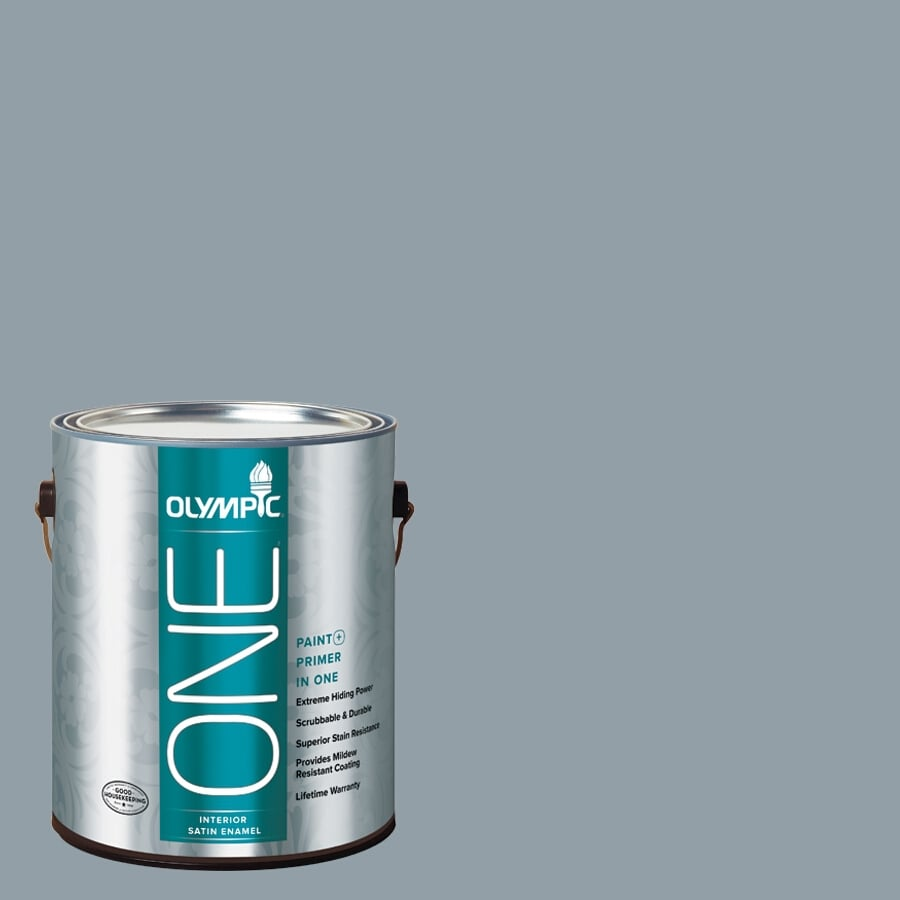 Olympic ONE Quicksilver Satin Latex Interior Paint and Primer In One (Actual Net Contents: 116-fl oz)