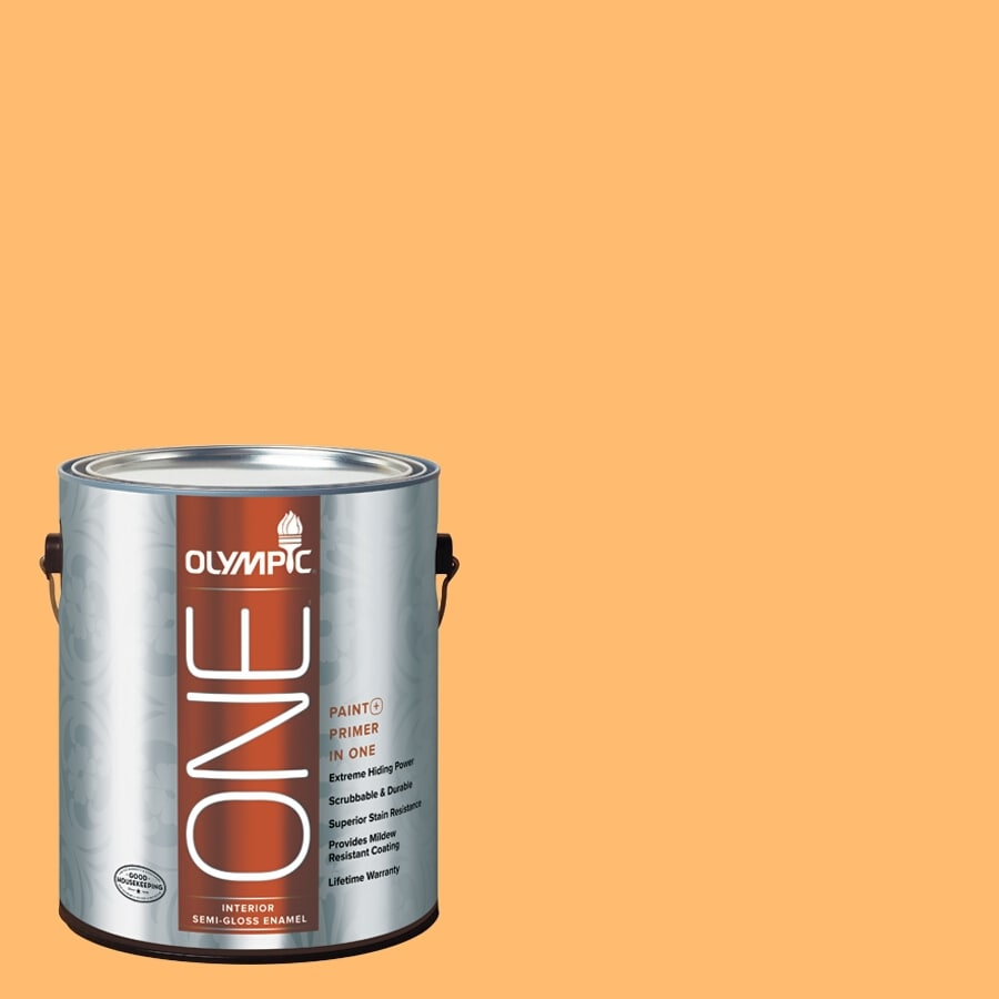 Olympic ONE Japanese Koi Semi-Gloss Latex Interior Paint and Primer In One (Actual Net Contents: 116-fl oz)