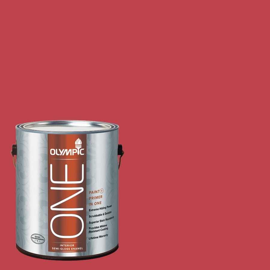 Olympic ONE Calypso Berry Semi-Gloss Latex Interior Paint and Primer In One (Actual Net Contents: 114-fl oz)