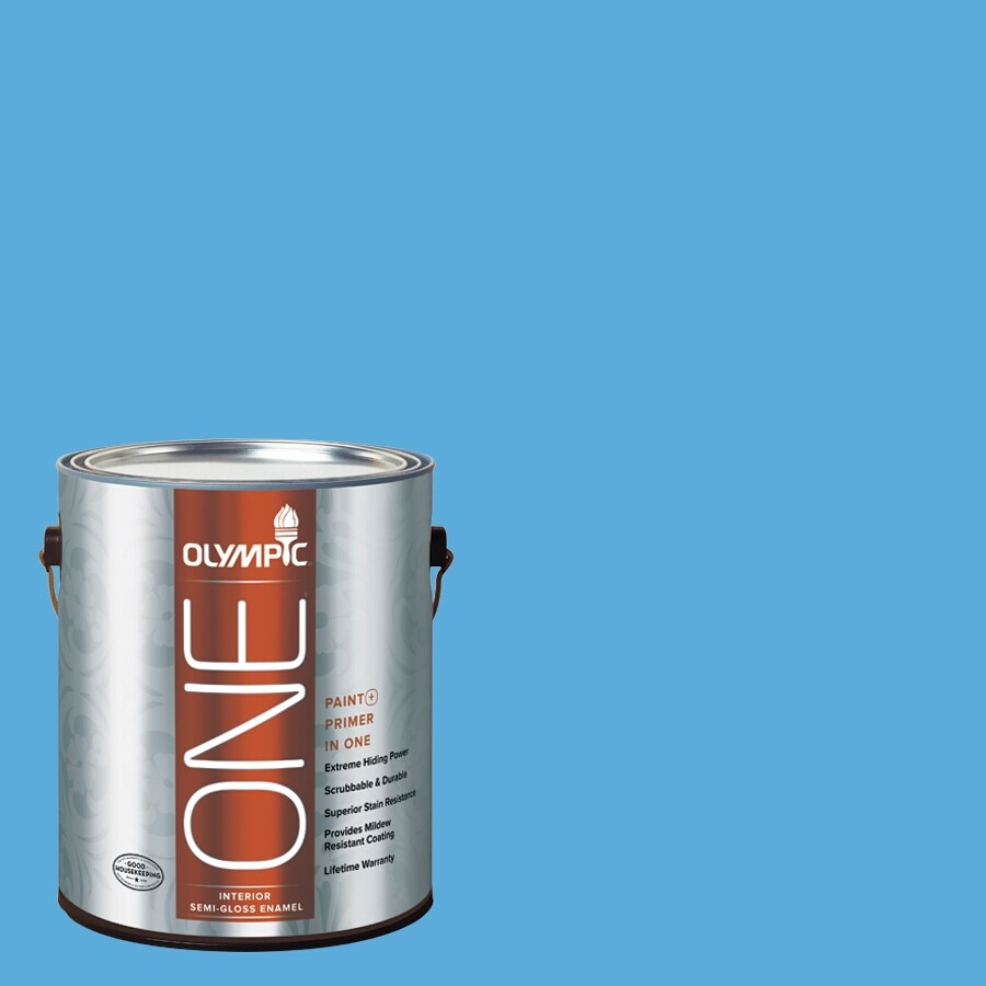 Olympic ONE Windjammer Semi-Gloss Latex Interior Paint and Primer In One (Actual Net Contents: 116-fl oz)