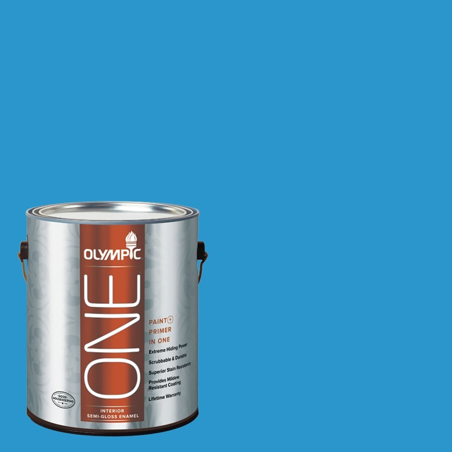 Olympic ONE Magical Merlin Semi-Gloss Latex Interior Paint and Primer In One (Actual Net Contents: 114-fl oz)