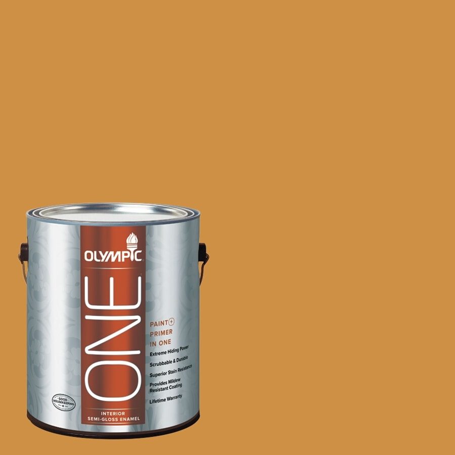 Olympic ONE Mayan Treasure Semi-Gloss Latex Interior Paint and Primer In One (Actual Net Contents: 114-fl oz)