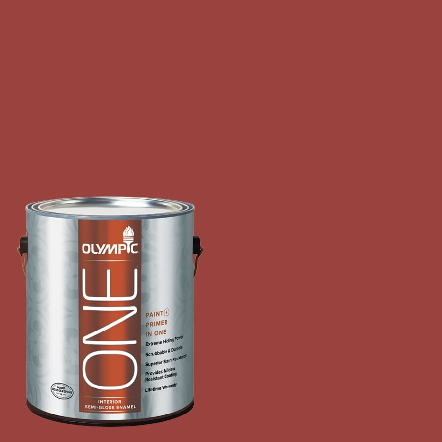 Olympic ONE Burning Bush Semi-Gloss Latex Interior Paint and Primer In One (Actual Net Contents: 114-fl oz)