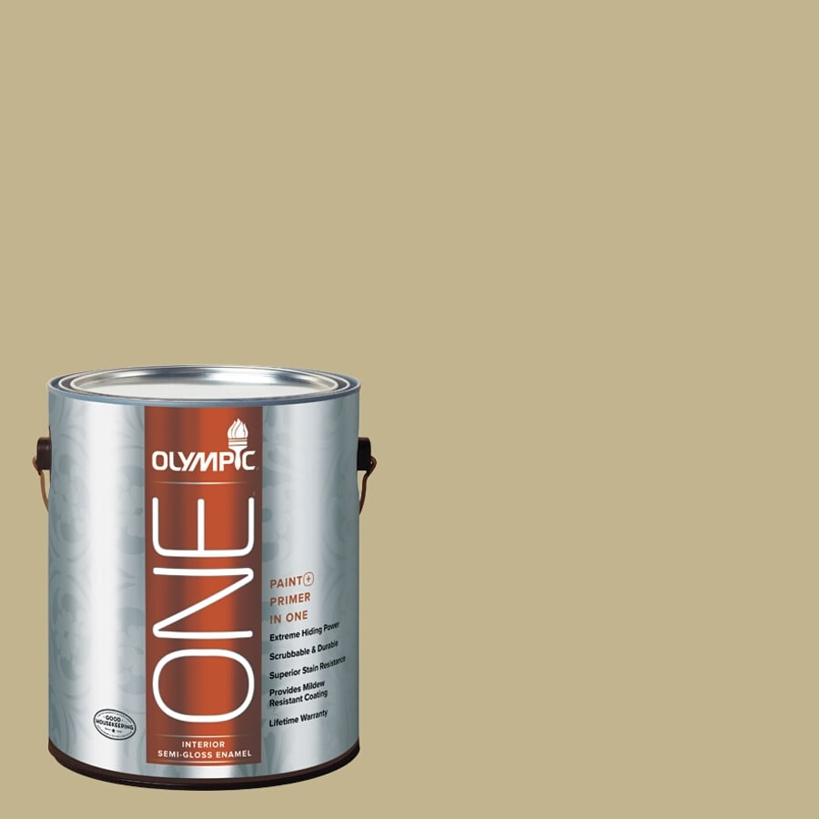 Olympic ONE Crocodile Tears Semi-Gloss Latex Interior Paint and Primer In One (Actual Net Contents: 116-fl oz)