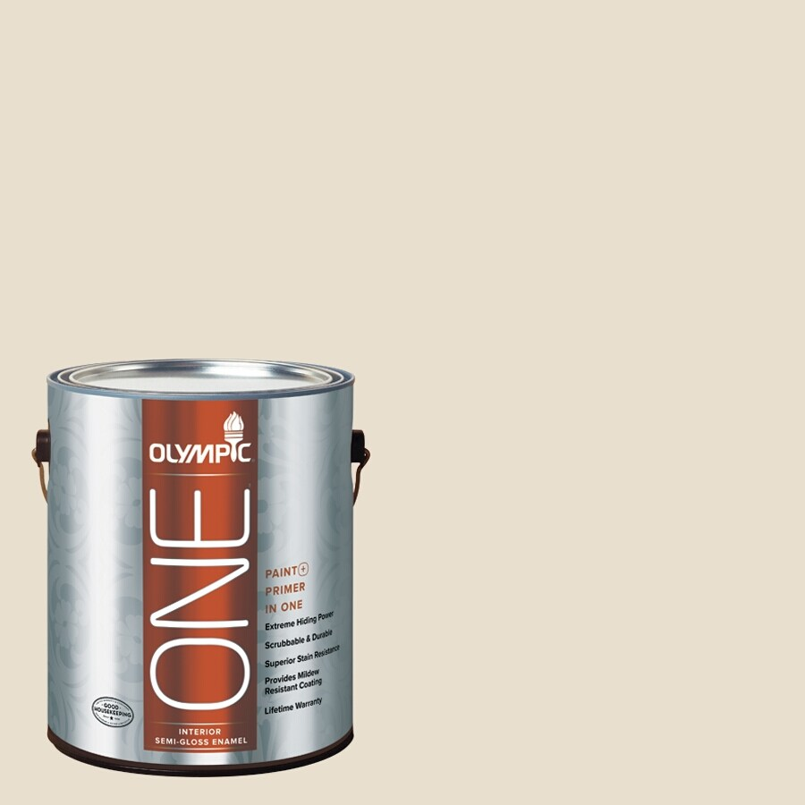 Olympic ONE Brandied Pears Semi-Gloss Latex Interior Paint and Primer In One (Actual Net Contents: 124-fl oz)