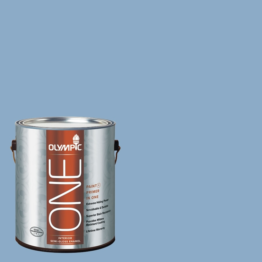 Olympic ONE Angle Eyes Semi-Gloss Latex Interior Paint and Primer In One (Actual Net Contents: 124-fl oz)