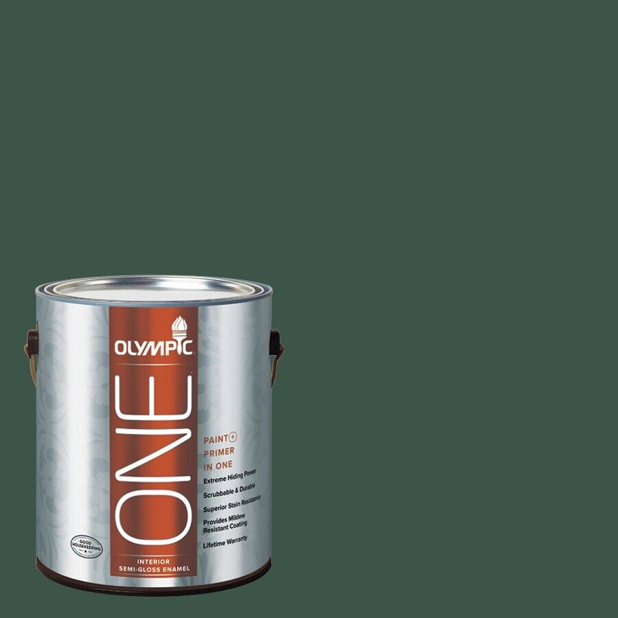 Olympic ONE Black Spruce Semi-Gloss Latex Interior Paint and Primer In One (Actual Net Contents: 114-fl oz)