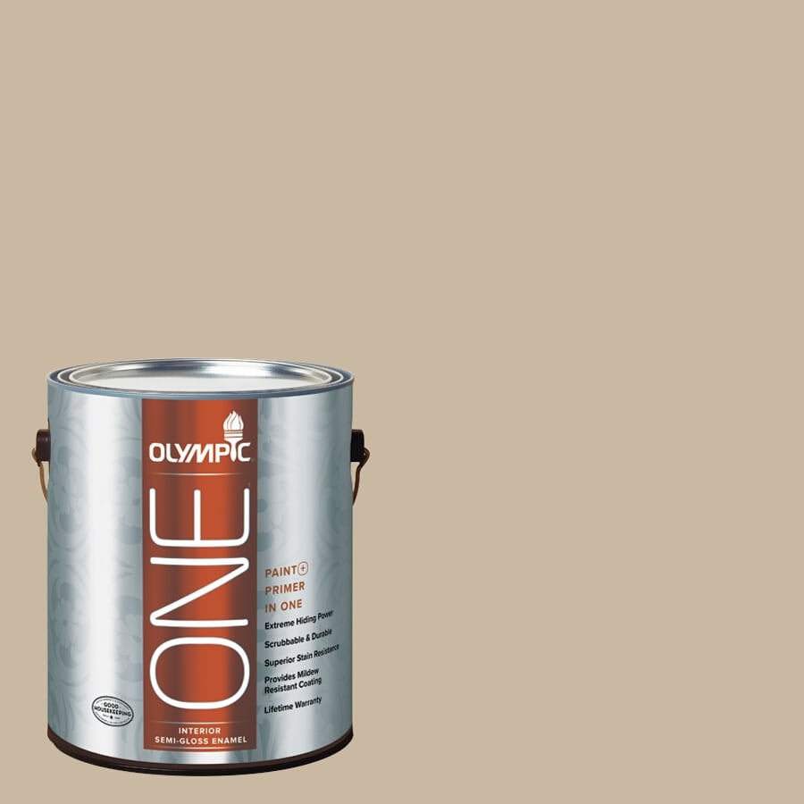 Olympic ONE Dusty Trail Semi-Gloss Latex Interior Paint and Primer In One (Actual Net Contents: 124-fl oz)