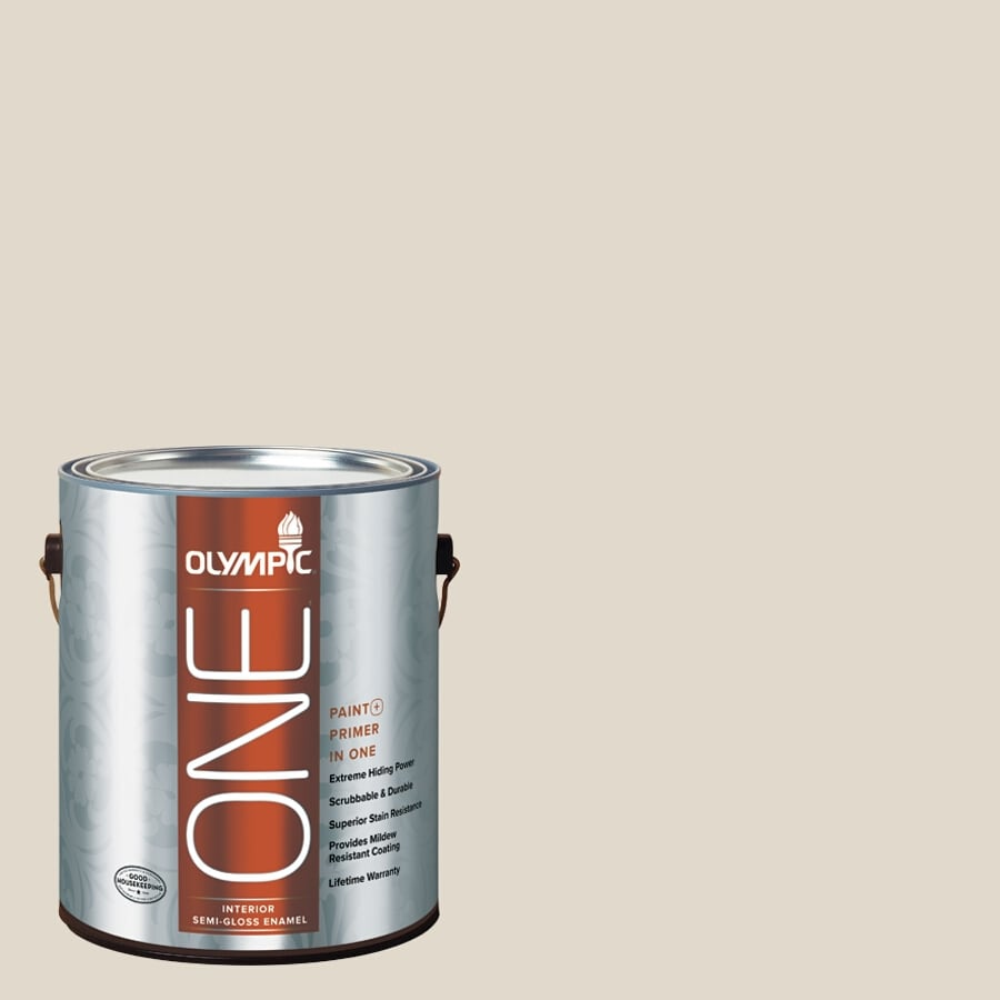 Olympic ONE Gravel Semi-Gloss Latex Interior Paint and Primer In One (Actual Net Contents: 124-fl oz)