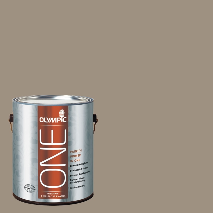 Olympic ONE StONE Gray Semi-Gloss Latex Interior Paint and Primer In One (Actual Net Contents: 116-fl oz)