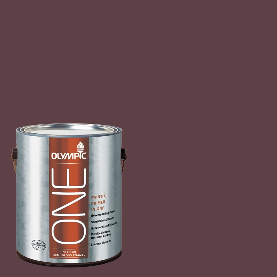 Olympic ONE Gooseberry Semi-Gloss Latex Interior Paint and Primer In One (Actual Net Contents: 114-fl oz)