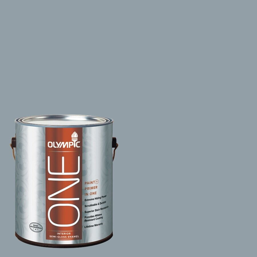 Olympic ONE Quicksilver Semi-Gloss Latex Interior Paint and Primer In One (Actual Net Contents: 116-fl oz)
