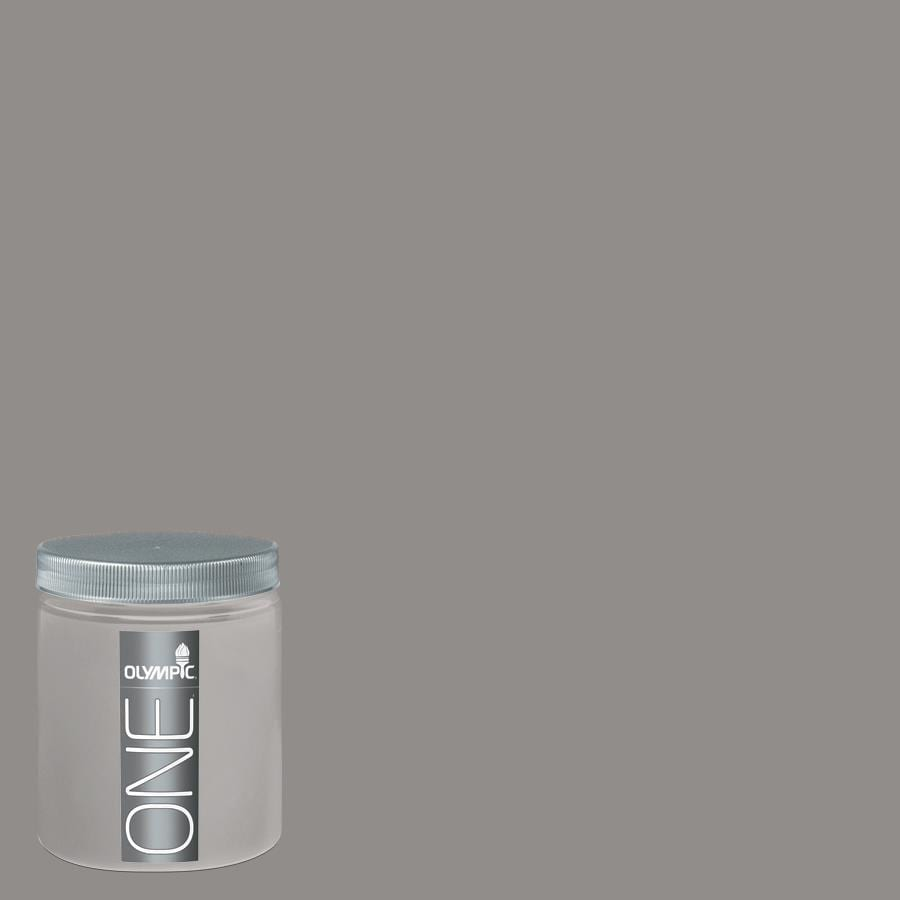 Olympic 8-oz Antique Silver Interior Satin Paint Sample