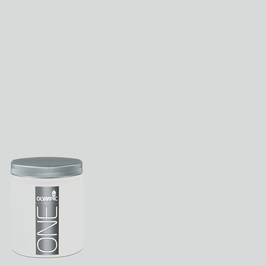 Olympic 8-oz Thin Ice Interior Satin Paint Sample