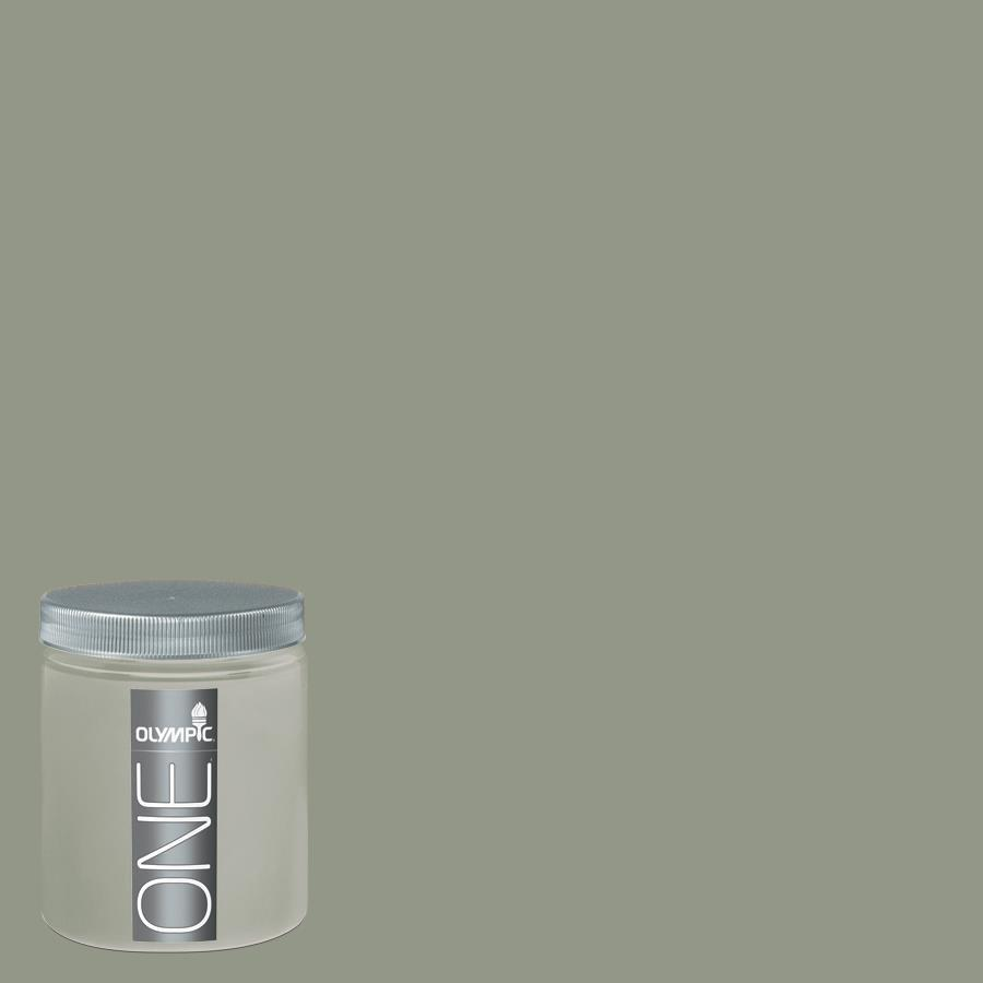 Olympic 8-oz Green Tea Leaf Interior Satin Paint Sample
