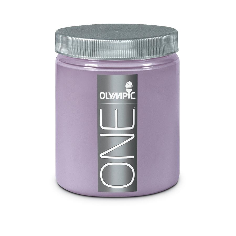 Olympic Pale Purple Interior Satin Paint Sample (Actual Net Contents: 8-fl oz)