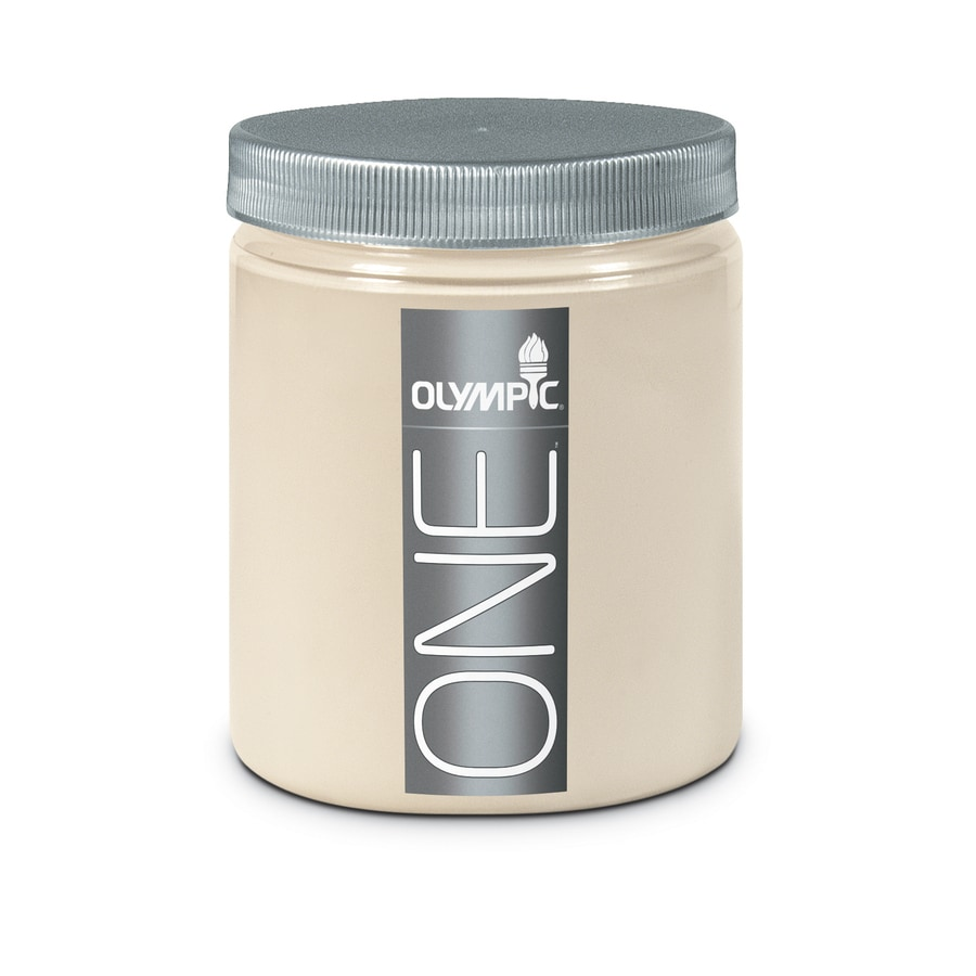 Olympic Gray Beige Interior Satin Paint Sample (Actual Net Contents: 8-fl oz)