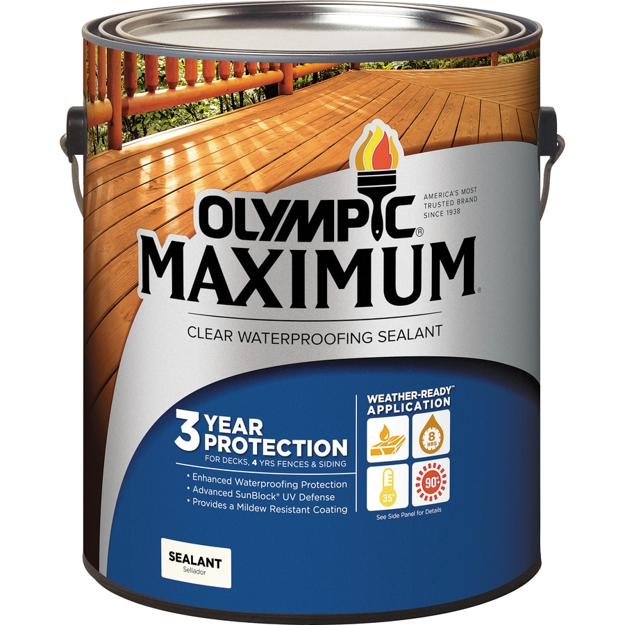 Olympic Clear Exterior Stain (Actual Net Contents: 128-fl oz)