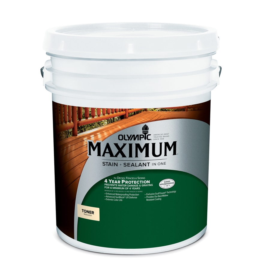 Olympic Maximum Cedar Naturaltone Semi-Transparent Exterior Stain (Actual Net Contents: 640-fl oz)