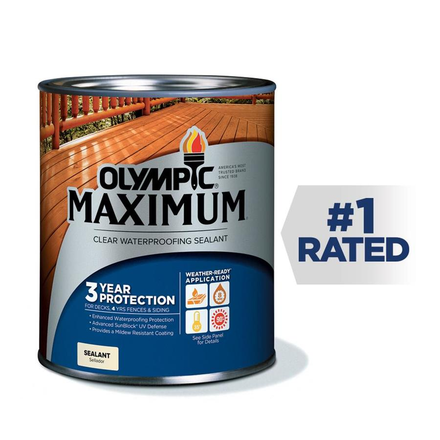 Olympic MAXIMUM Clear Exterior Stain (Actual Net Contents: 32-fl oz)