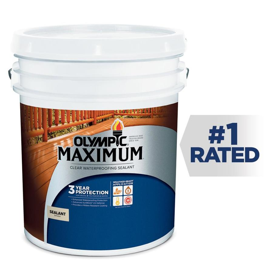 Olympic MAXIMUM Clear Exterior Stain (Actual Net Contents: 640-fl oz)