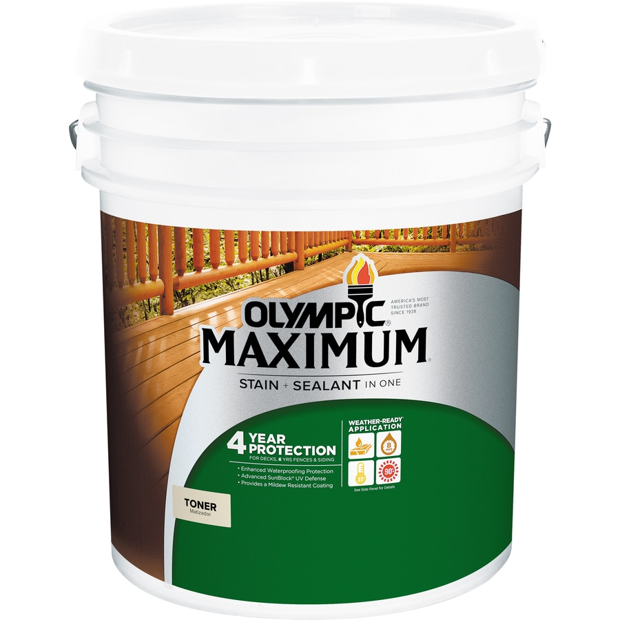 Olympic Maximum Redwood Naturaltone Transparent Exterior Stain (Actual Net Contents: 640-fl oz)
