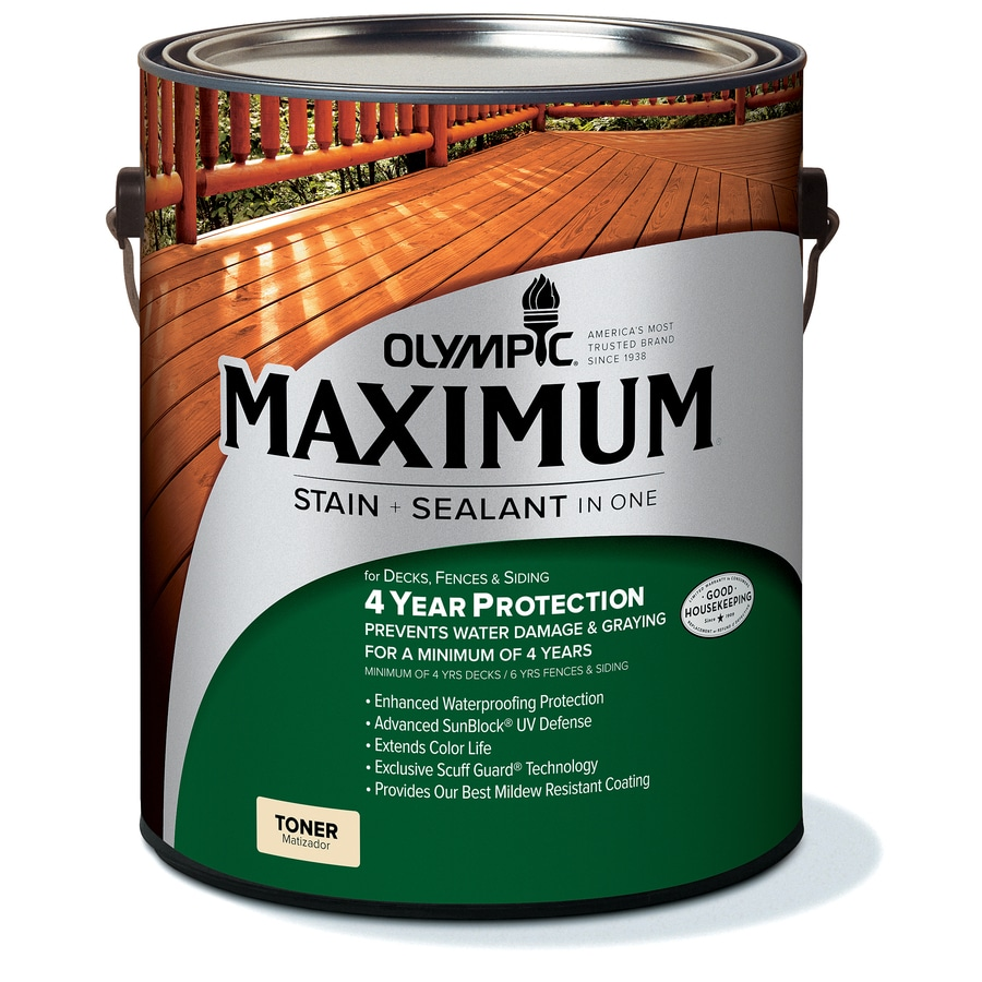 Olympic MAXIMUM Canyon Brown Transparent Exterior Stain (Actual Net Contents: 128-fl oz)