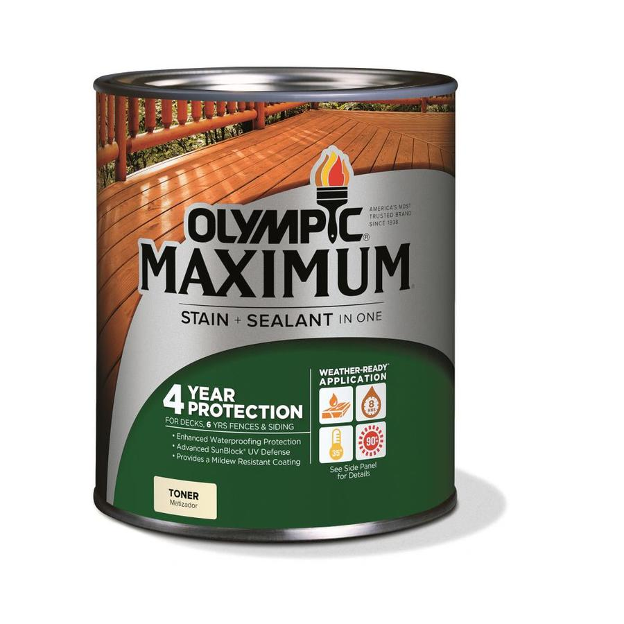 Olympic Maximum Canyon Brown Transparent Exterior Stain (Actual Net Contents: 32-fl oz)