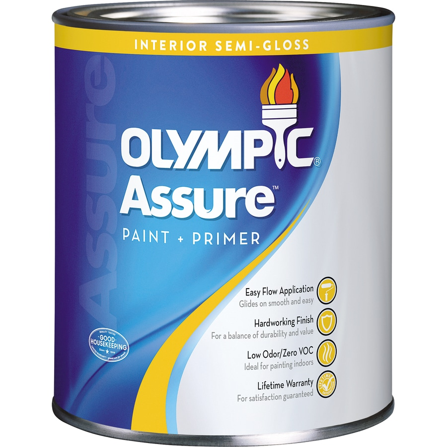 Olympic White Semi-gloss Latex Interior Paint and Primer in One (Actual Net Contents: 31-fl oz)