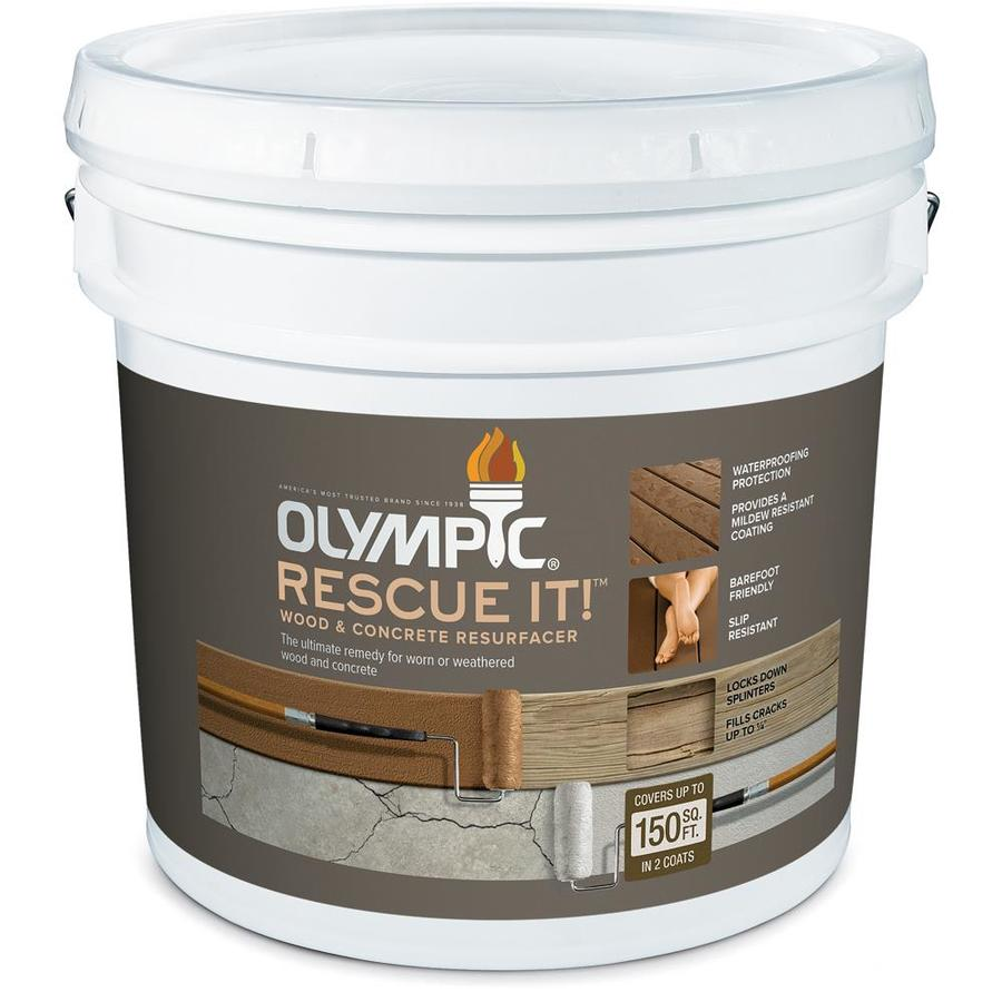 Olympic Rescue It Tintable Base 2 Restoration Textured Solid Exterior Stain (Actual Net Contents: 114-fl oz)
