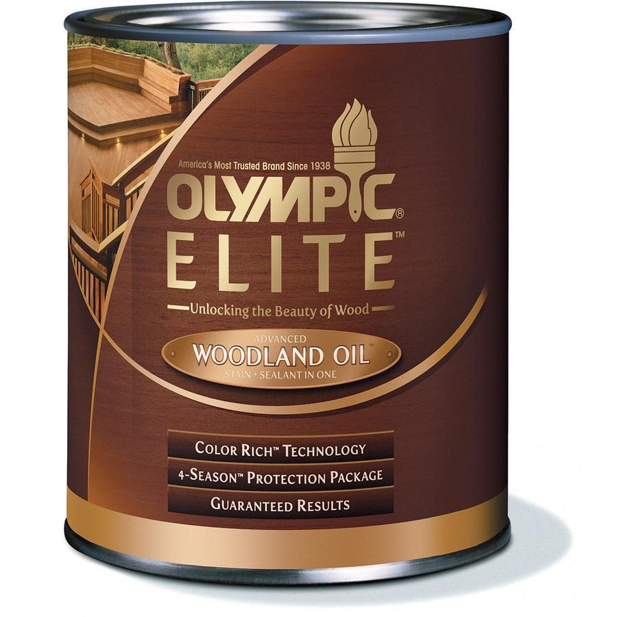 Olympic Elite Mahogany Blaze Toner Exterior Stain (Actual Net Contents:  32 Fl Oz