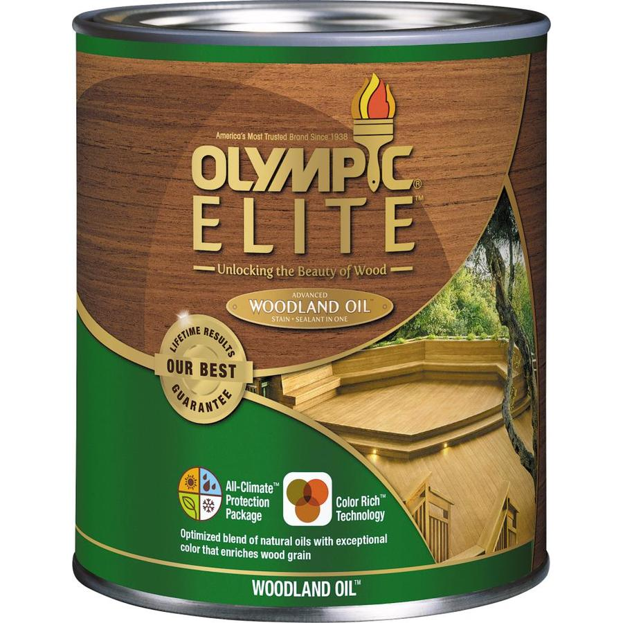 Olympic Elite Woodland Oil Mountain Cedar Transparent Exterior Stain (Actual Net Contents: 32-fl oz)
