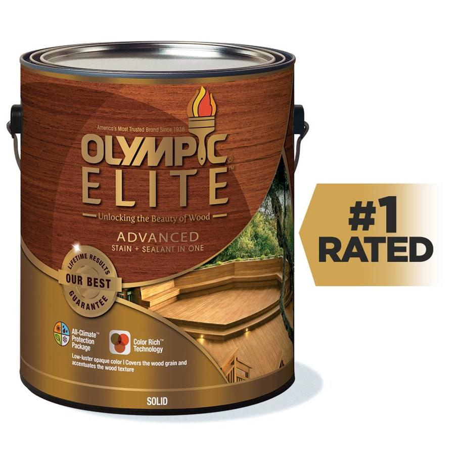 Shop Olympic Elite Tintable Base 2 Solid Exterior Stain Actual Net Contents 114 Fl Oz At