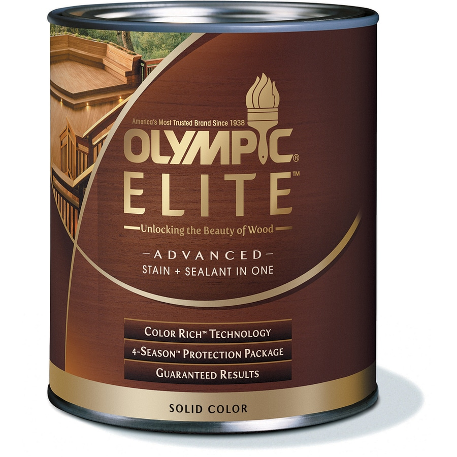 Shop Olympic Elite Tintable Base 2 Solid Exterior Stain Actual Net Contents 28 Fl Oz At