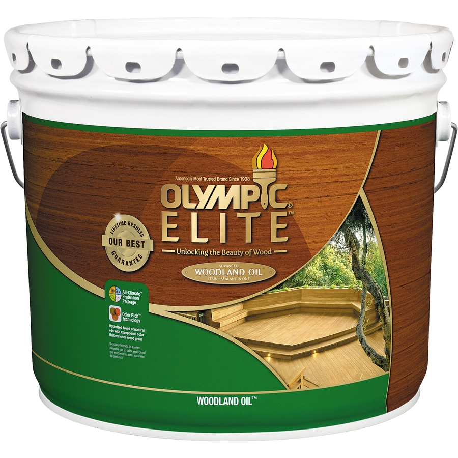 Olympic ELITE Pre Tinted Woodland Oil Mountain Cedar Transparent Exterior  Stain (Actual Net Contents