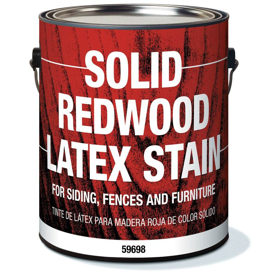 Olympic Redwood Solid Exterior Stain (Actual Net Contents: 128-fl oz)