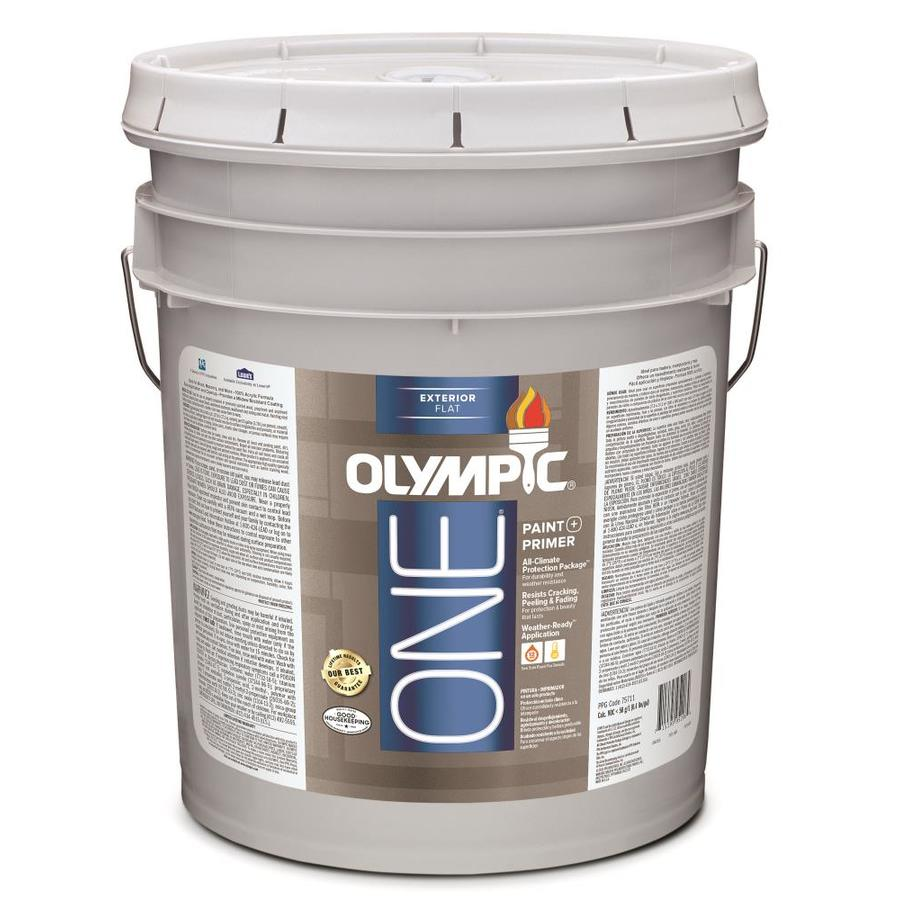 Olympic ONE Base 1/Ultra White Flat Latex Exterior Paint (Actual Net Contents: 619-fl oz)