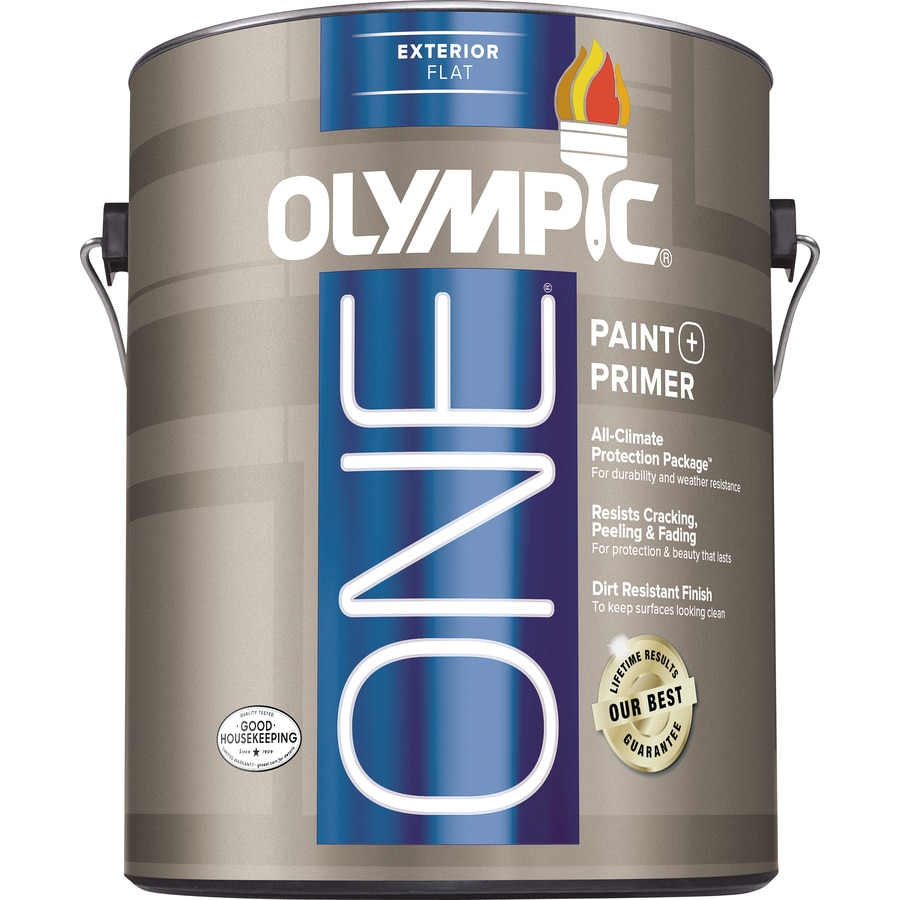Olympic ONE Base 3 Flat Latex Exterior Paint (Actual Net Contents: 116-fl oz)