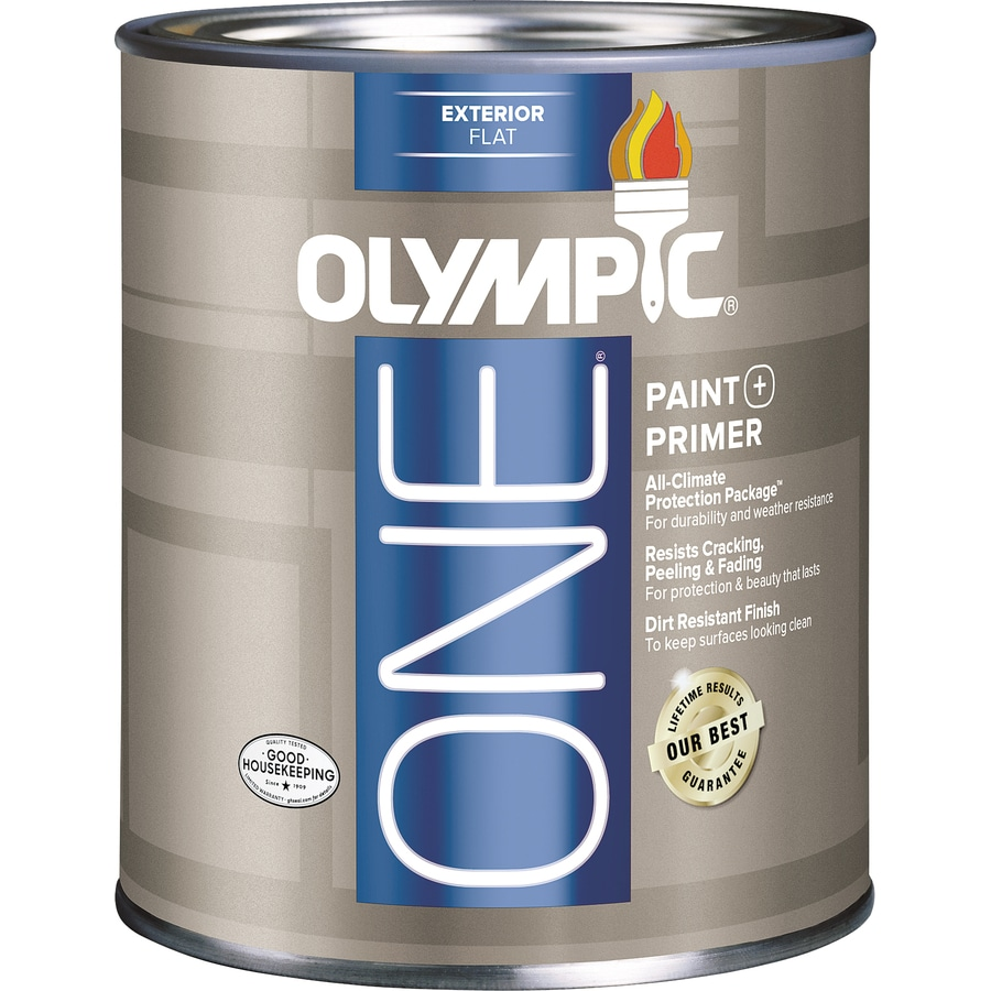 Shop Olympic One Base 5 Flat Latex Exterior Paint Actual