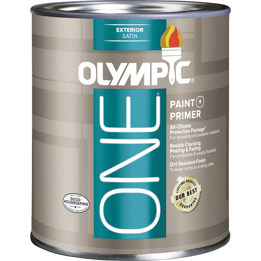 Olympic ONE Base 3 Satin Acrylic Exterior Paint (Actual Net Contents: 29-fl oz)