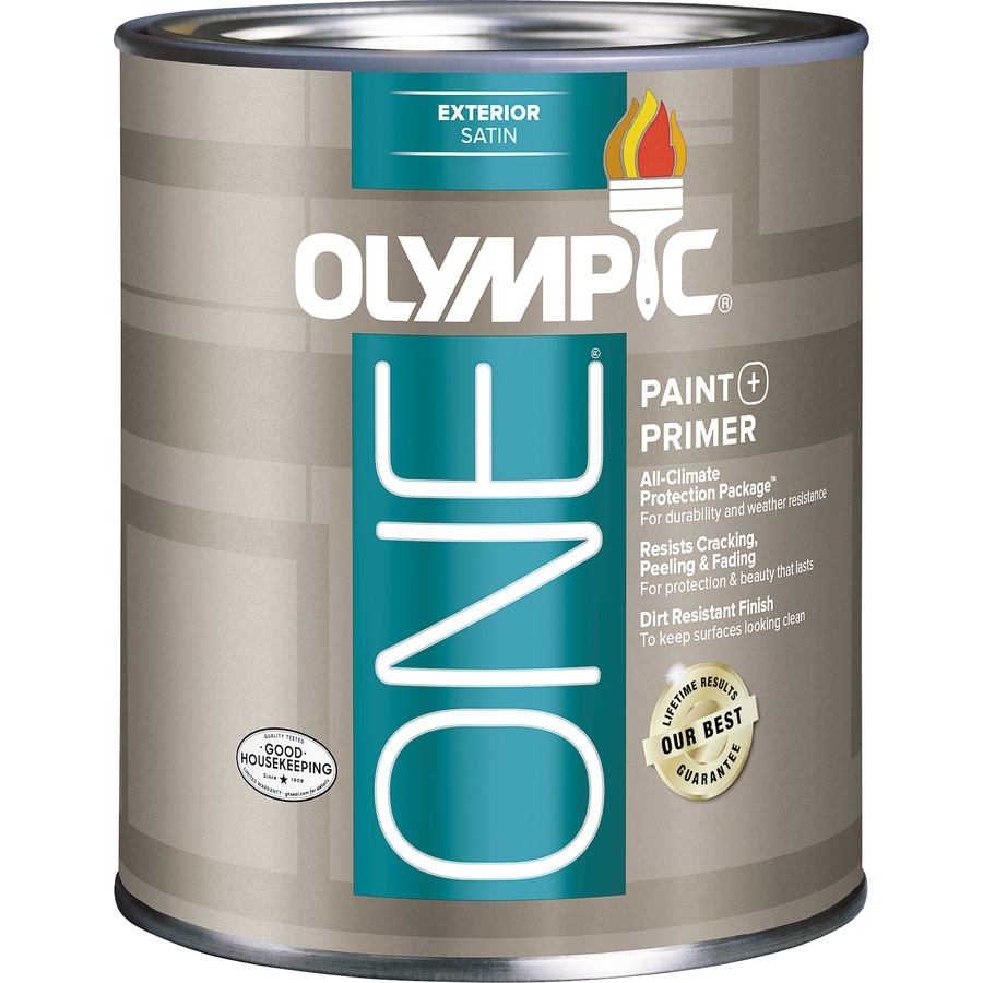 Olympic ONE Base 5 Satin Acrylic Exterior Paint (Actual Net Contents: 28.5-fl oz)