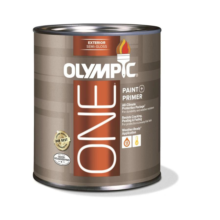 Shop Olympic One Base 1 Ultra White Semi Gloss Acrylic Exterior Paint Actual Net Contents 31