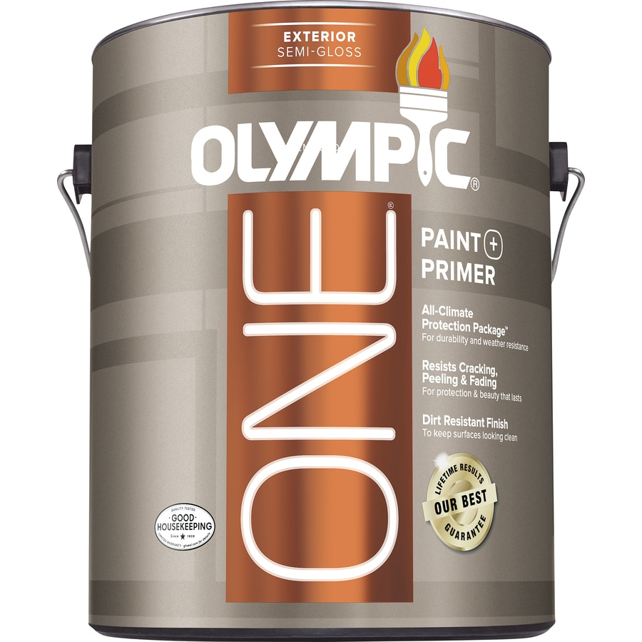 Olympic One Base 5 Semi-Gloss Acrylic Exterior Paint (Actual Net Contents: 114-fl oz)