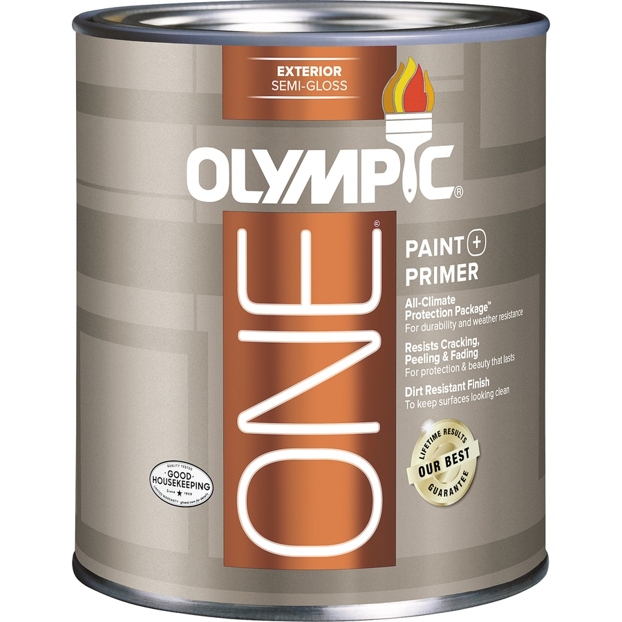Shop olympic one base 5 semi gloss acrylic exterior paint actual net contents 28 5 fl oz at - Acrylic paint exterior plan ...