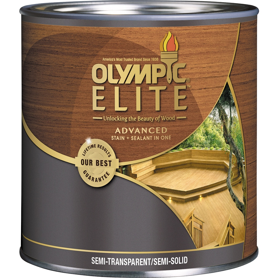 Olympic ELITE Tintable Tan Base Semi-Transparent/Semi-Solid Exterior Stain (Actual Net Contents: 7.5-fl oz)