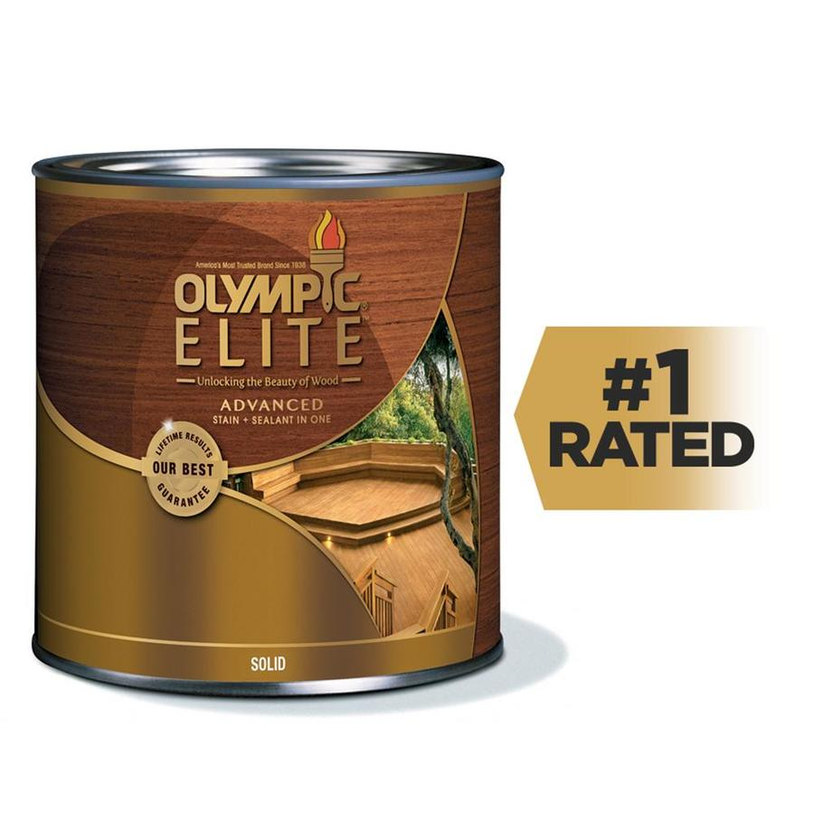 Olympic ELITE Tintable Base 1 Solid Exterior Stain (Actual Net Contents: 7.5-fl oz)