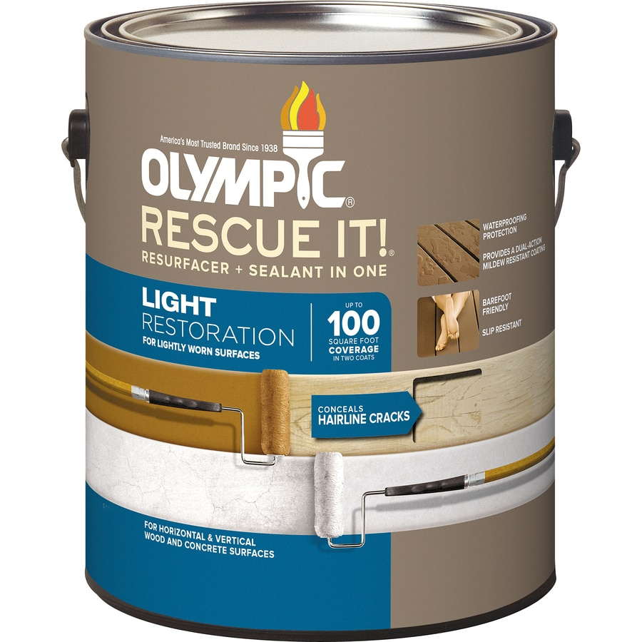 Olympic Rescue It Tintable Base 2 Restoration Textured Solid Exterior Stain  (Actual Net Contents: