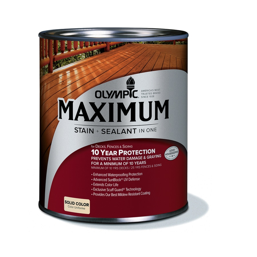 shop olympic maximum tintable base 2 solid exterior stain actual net contents 28 5 fl oz at