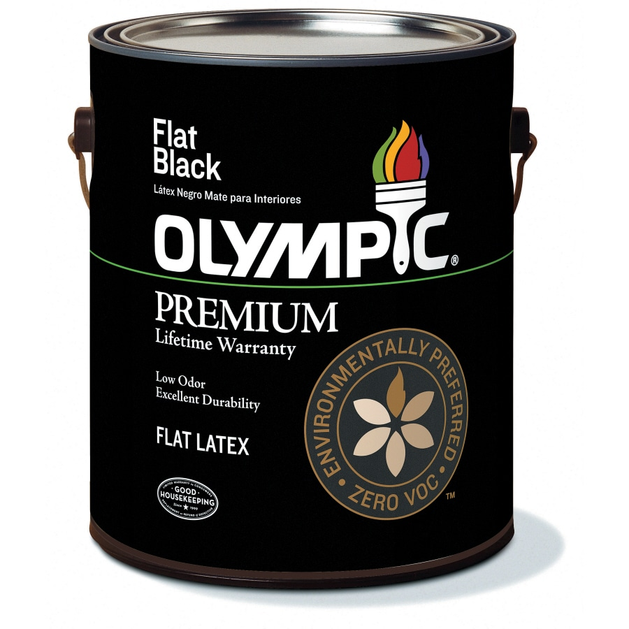 Olympic Black Flat Latex Interior Paint (Actual Net Contents: 128-fl oz)