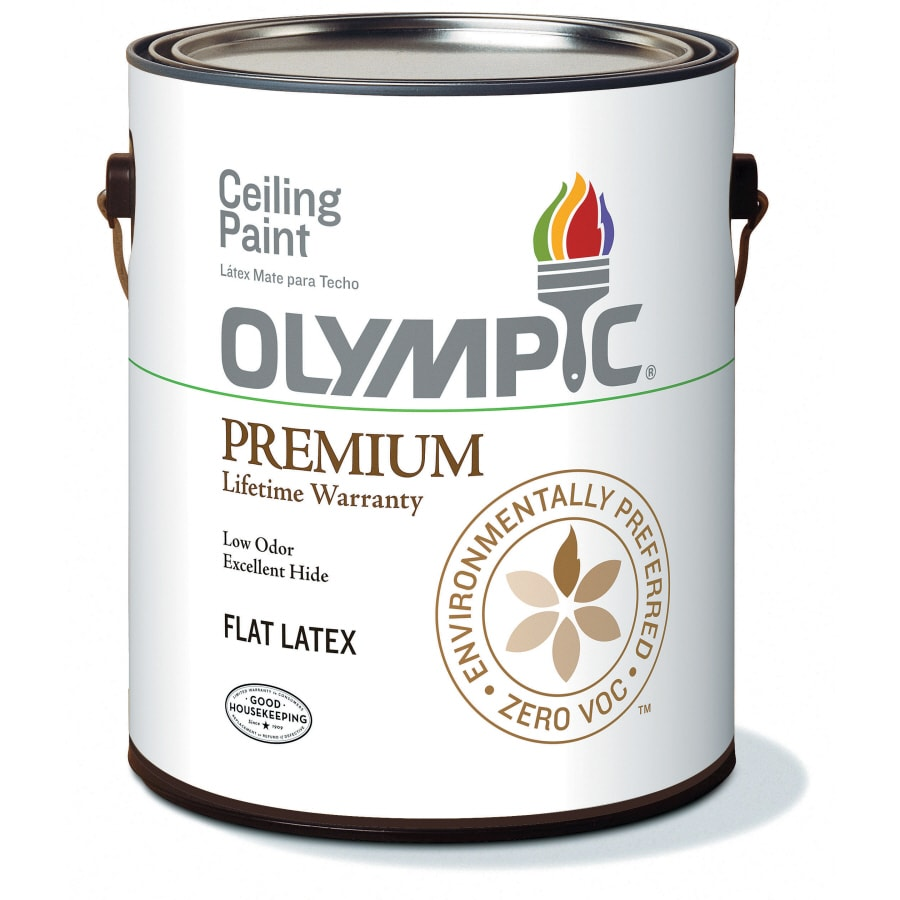 Olympic Ceiling White Soft-Gloss Latex Interior Paint (Actual Net Contents: 124-fl oz)